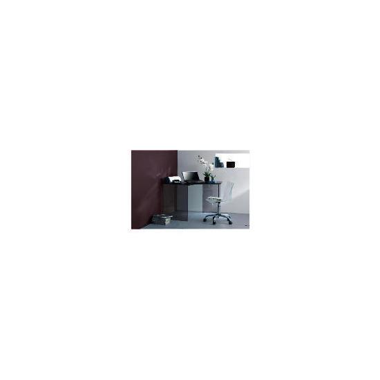 Geneva Glass Corner Desk - Black