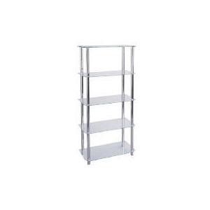 Photo of Mercury 5 Shelf Storage, Clear Glass Furniture