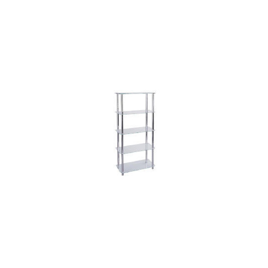 Mercury 5 shelf Storage, Clear Glass