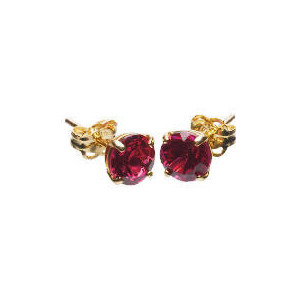 Photo of 9CT Gold Created Ruby Earrings Jewellery Woman