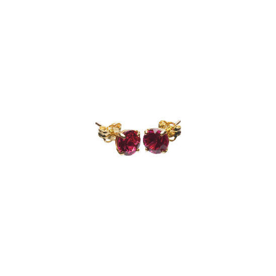 9ct Gold Created Ruby Earrings
