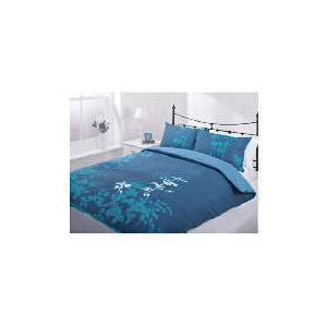 Photo of Tesco Silhouette Print Duvet Set Single, Teal Bed Linen