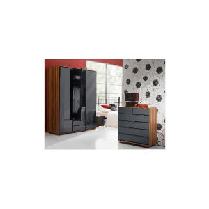 Photo of Ferrara Chest, Black & Walnut Furniture