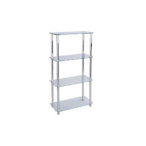 Photo of Mercury 4 Shelf Storage, Clear Glass Furniture