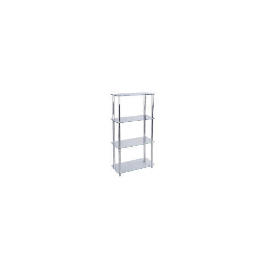 Mercury 4 shelf Storage, Clear Glass