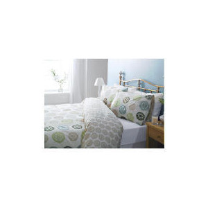 Photo of Tesco Spiral Print Duvet Set Double, Cream Bed Linen