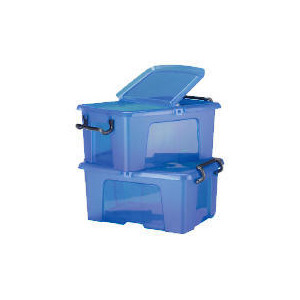 Photo of 50L Smart Boxes, 2 Pack Blue Household Storage