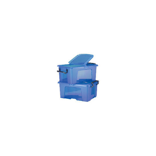 50L smart boxes, 2 pack blue
