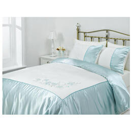 Tesco Amiee Embroidered Duvet Set Kingsize, Cloud Reviews