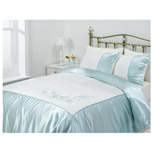 Photo of Tesco Amiee Embroidered Duvet Set Kingsize, Cloud Bed Linen