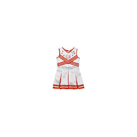 High School Musical White Metallic Cheerleader Dress Up Age 8/11