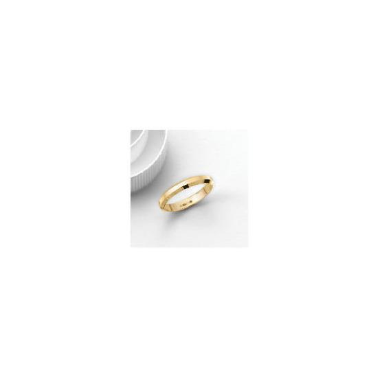 9ct Gold 3mm Bevelled Edge Wedding Band, Q