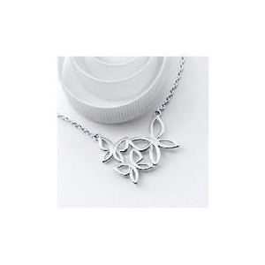 Photo of Silver Abstract Butterfly Necklace Jewellery Woman