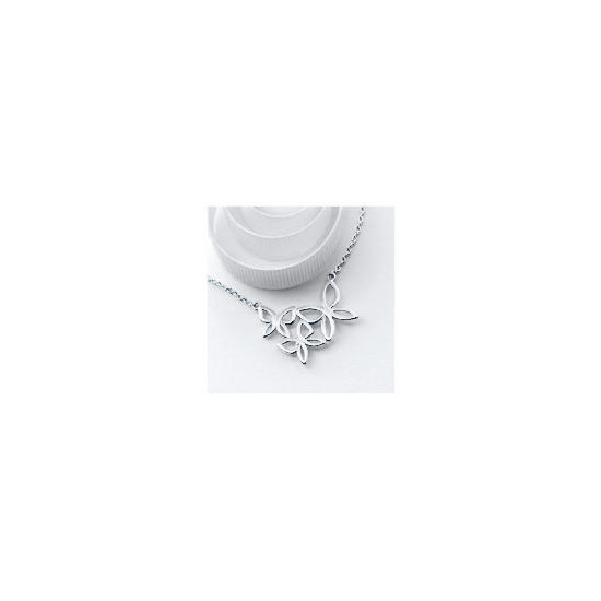 Silver Abstract Butterfly Necklace