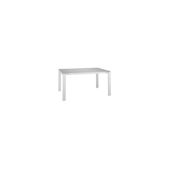 Calida Dining Table, White Gloss