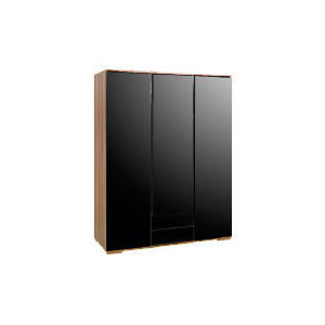Photo of Ferrara Triple Wardrobe, Black & Walnut Furniture