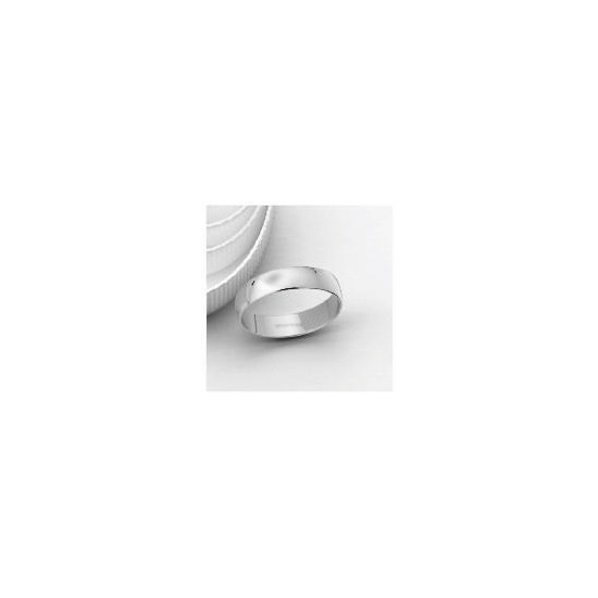 18ct White Gold 5mm Wedding Band, S