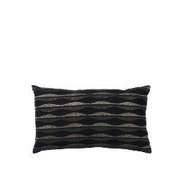 Tesco Wave Embroidered Oblong Cushion Black & Grey, Madison Reviews