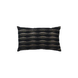 Photo of Tesco Wave Embroidered Oblong Cushion Black & Grey, Madison Cushions and Throw