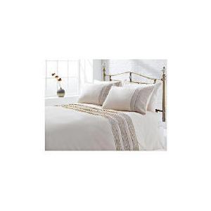 Photo of Tesco Linen Pintuck Duvet Set Kingsize, Stone Bed Linen