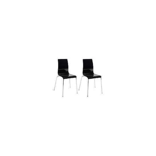 Pair of Padova Chairs, Black Gloss