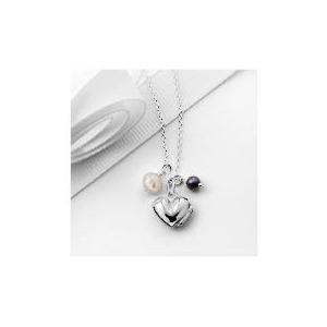 Photo of Silver Heart Locket 3 Charm Pendant Jewellery Woman