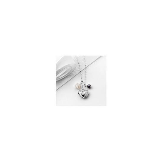 Silver Heart Locket 3 Charm Pendant
