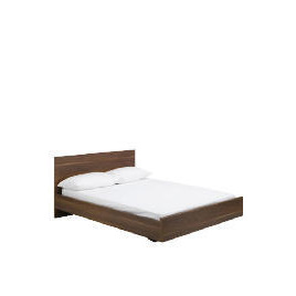 Imola Double Bed Frame With Pine Slats, Dark Walnut Finish Reviews