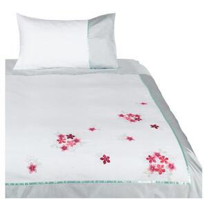 Photo of Tesco Imogen Embroidered Duvet Set Single, White Bed Linen