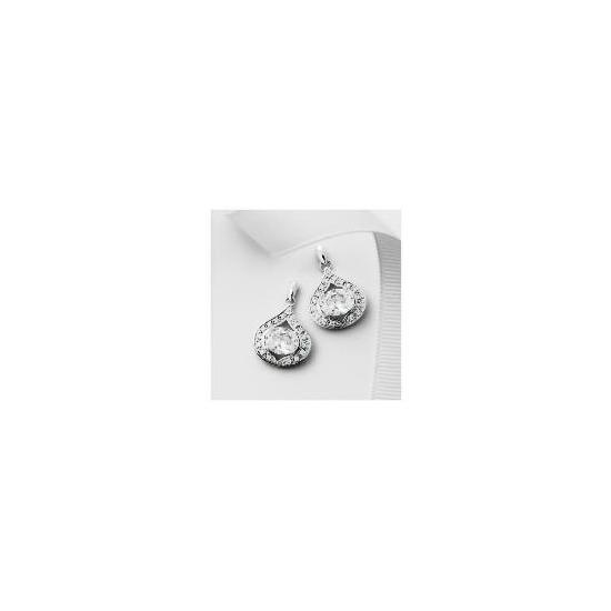 Pave Ice Queen Teardrop Earrings
