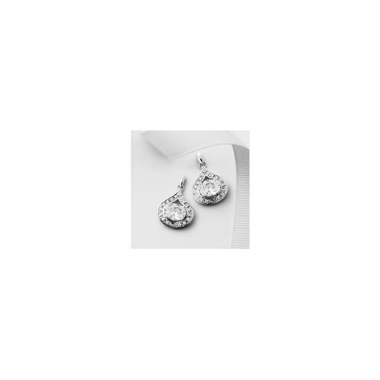 Pave Ice Queen Teardrop Earrings