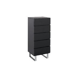 Photo of Costilla Tall Chest, Black Furniture