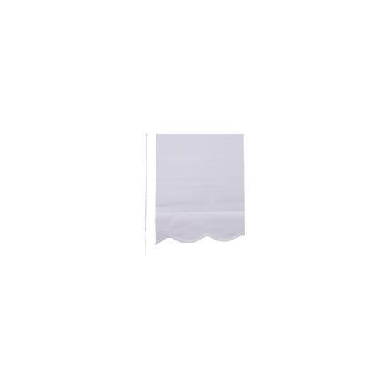 Scalloped Edge Roller Blind 120x160cm White