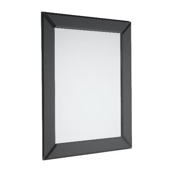 Tesco Contemporary Black Bevelled Mirror 40x50cm