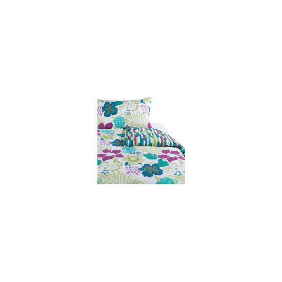 Tesco Tropical Print Duvet Set Single, Multi-coloured