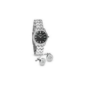 Photo of Limit Mens Silver Watch and Cufflink Set Watches Man
