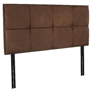 Photo of Mayfair Super King Headboard, Mocca Faux Suede Bedding