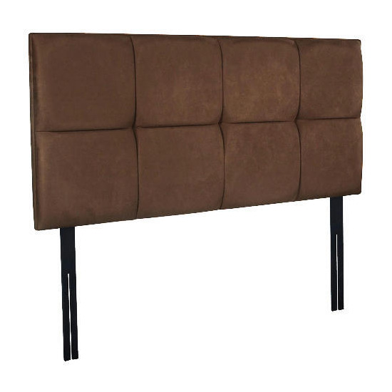 Mayfair Super King Headboard, Mocca Faux Suede