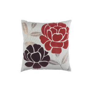 Photo of Tesco Flock Floral Cushion Red, Anya Cushions and Throw
