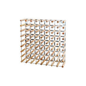 Photo of Ready To Assemble 72 Bottle Pine/Steel Wine Rack Home Miscellaneou