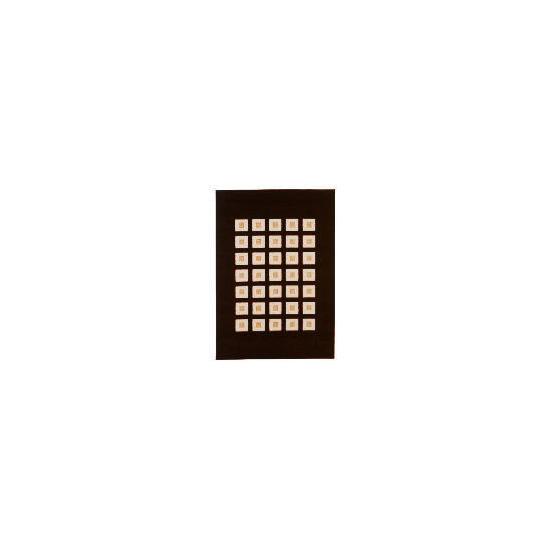 Tesco Loop & Pile Squares Chocolate 120x170cm