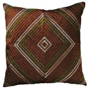 Photo of Tesco Diamond Embroidered Cushion - Chocolate Cushions and Throw