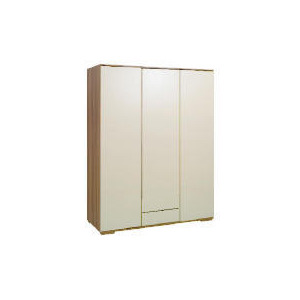 Photo of Ferrara Triple Wardrobe, Cream & Walnut Furniture