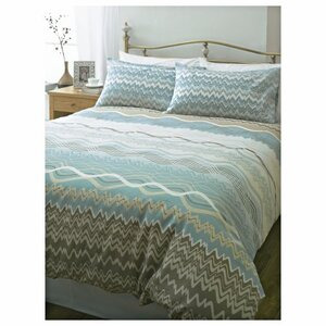 Photo of Tesco Zig Zag Print Duvet Set Double, Naturals Bed Linen