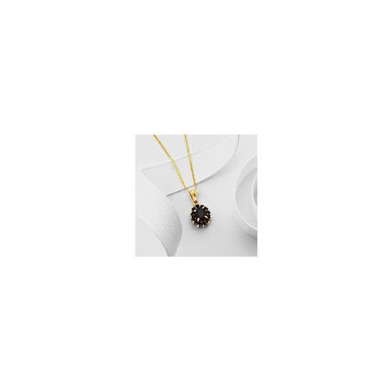 9ct Gold Sapphire Cluster Pendant