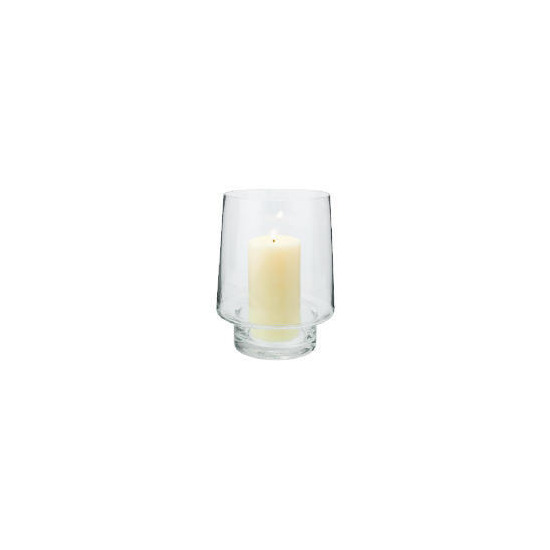 Tesco Clear Glass Hurricane Lamp