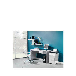 Curve High Gloss Office Desk, White Reviews