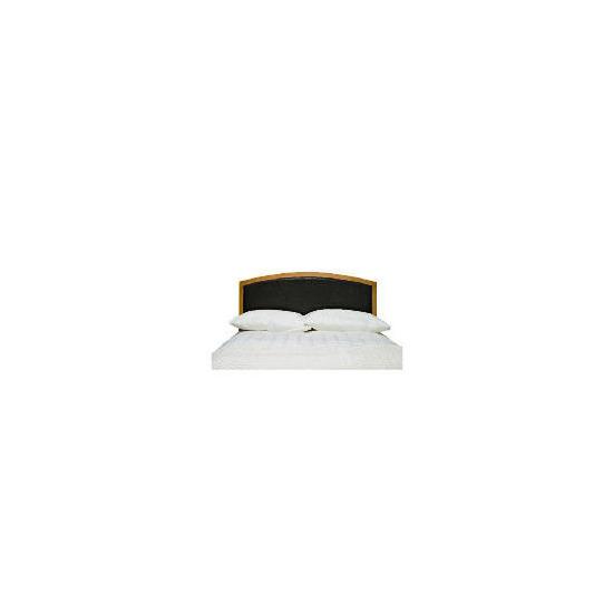 Clichy King Headboard, Oak & Dark Brown Faux Leather
