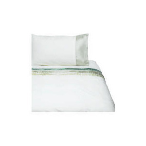 Photo of Tesco Satin Pintuck Duvet Set Single, Cream Bed Linen