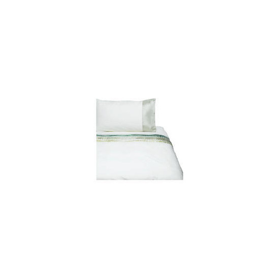 Tesco Satin Pintuck Duvet Set Single, Cream